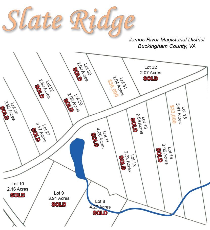 slate ridge lots