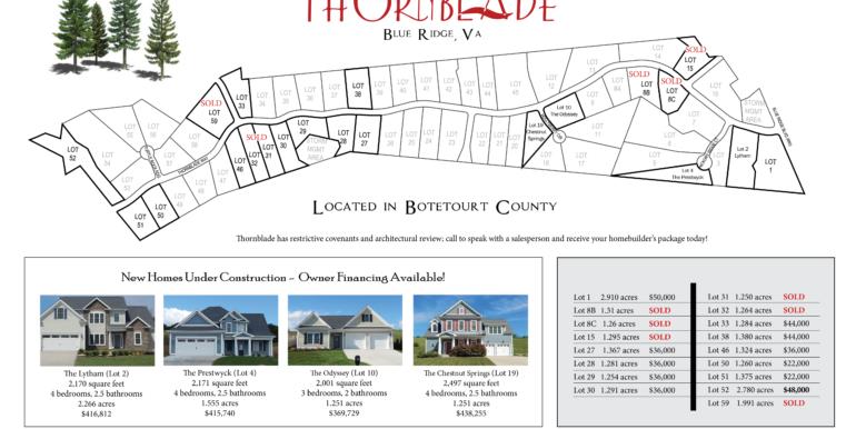 Thornblade Lot Plats